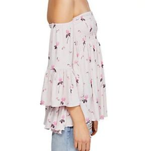 New Free People Lana Off the Shoulder Tunic Pink S